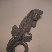 Iguana magnet (cold cast pewter) by Jason  Shanaman