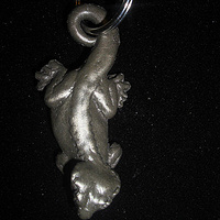 Crested Gecko key chain (cold cast pewter) by Jason  Shanaman