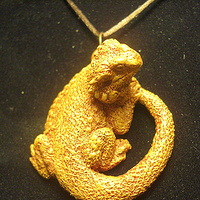 Painting new bearded dragon pendant (top clasp terra cotta) by Jason  Shanaman
