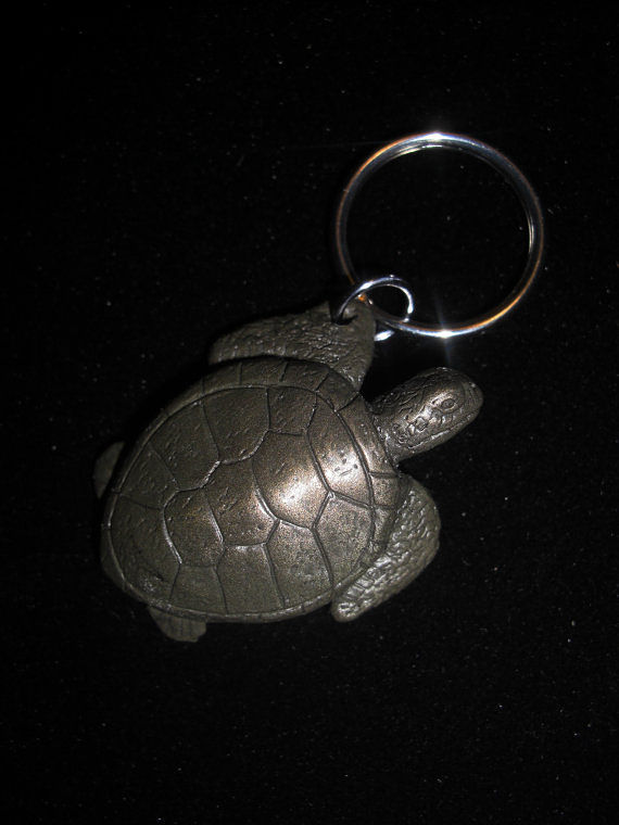 Sea Turtle key chain (cold cast pewter) by Jason  Shanaman