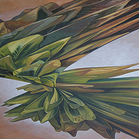 Oil painting Green Hybrid by Robert Porazinski