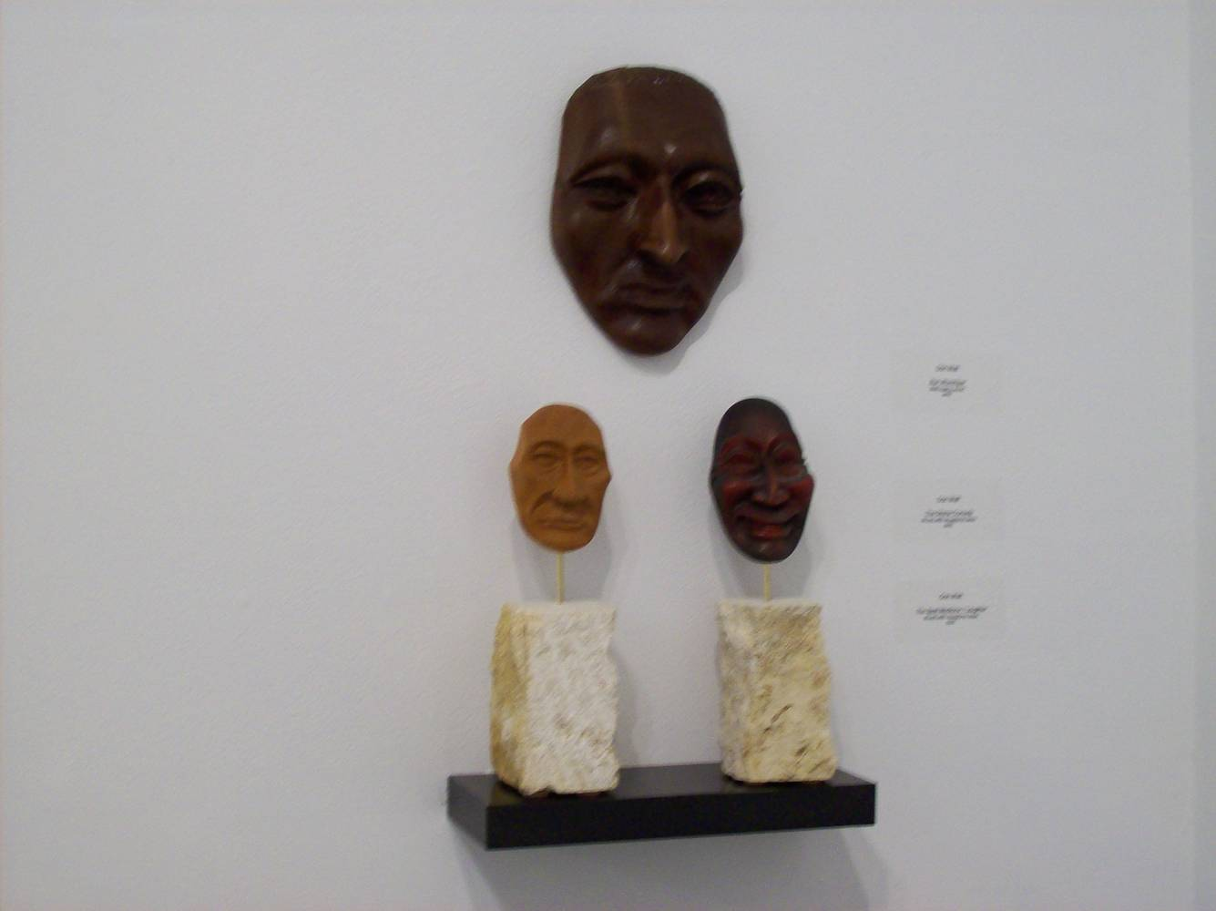 "Wood Series, ""Masks of Man"" by Corliss R Wall"