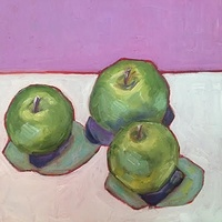 Oil painting Apples- SOLD by Sarah Trundle