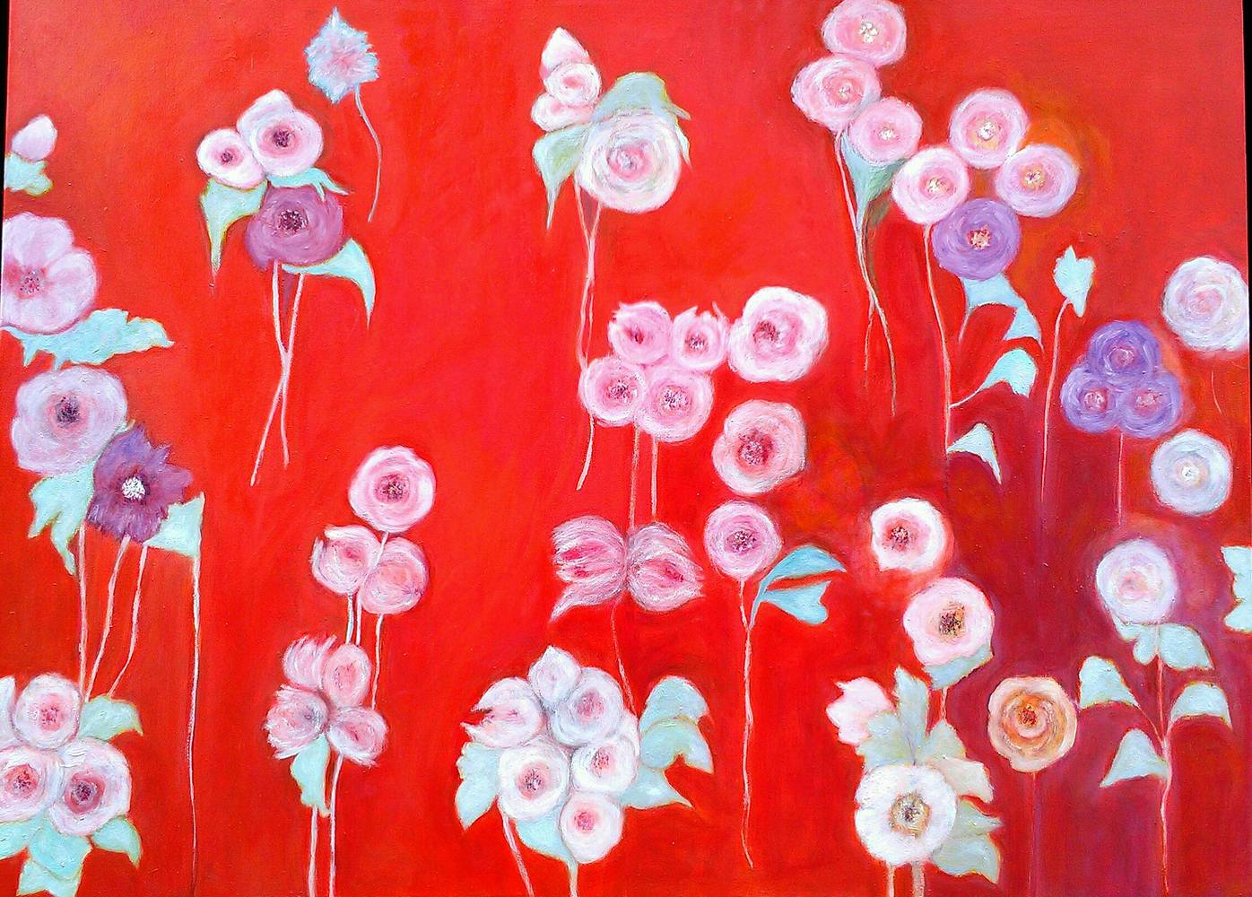 Oil painting Spring, oil, 122 x 92 cm by Gwenda Branjerdporn