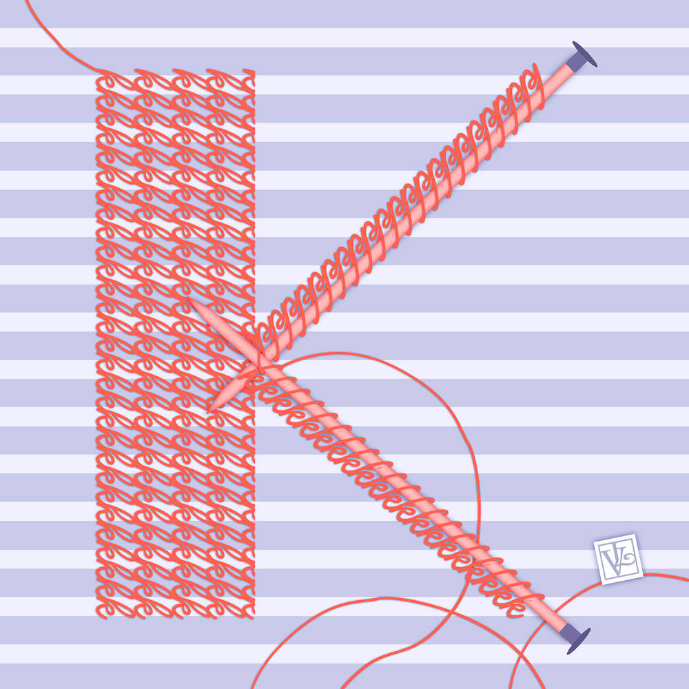 The Letter K for Knitting by Valerie Lesiak