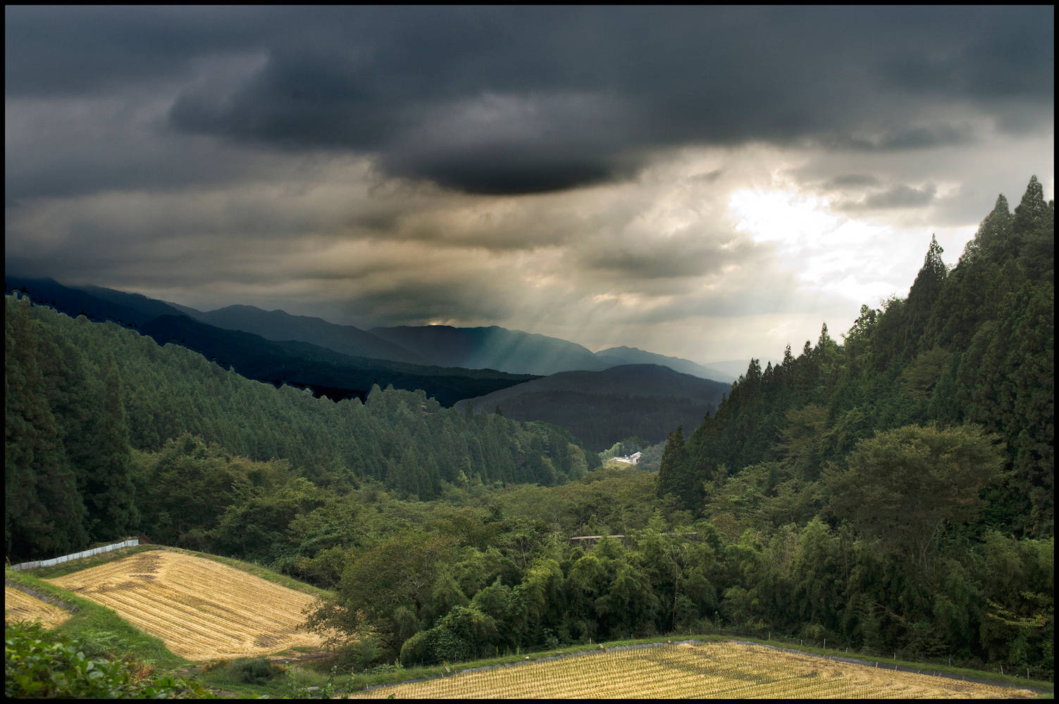 Clouds & Sun Over Valley  by Jim Friesen