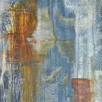 Mixed-media artwork Beyond space by Karen Holland