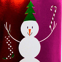Oil painting Snowman and Snowflake Cards: American Greetings by Valerie Lesiak
