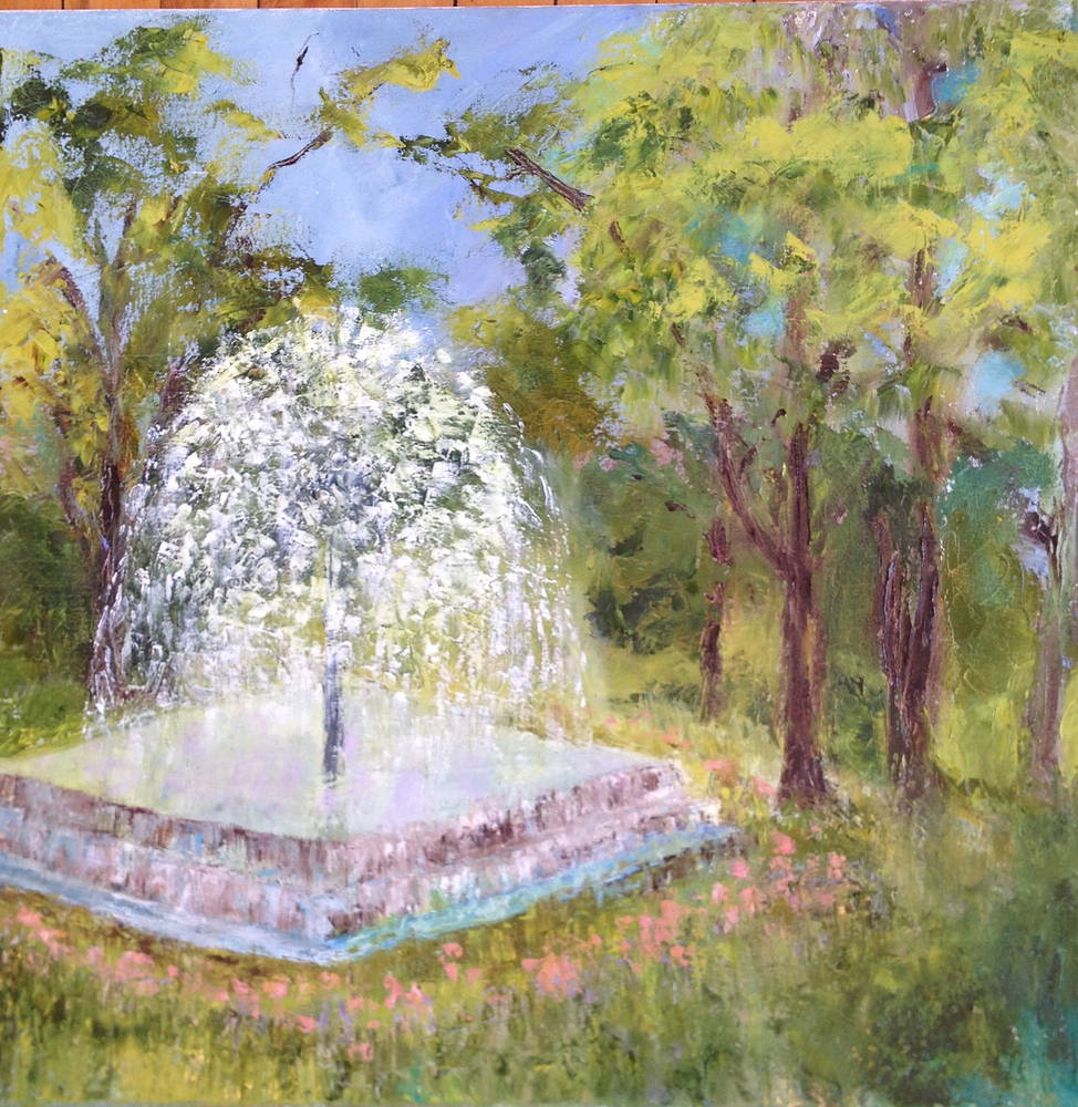Berger Fountain  by Yvonne Foster