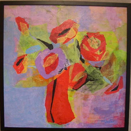 Acrylic painting Happy Bouquet by Yvonne Foster