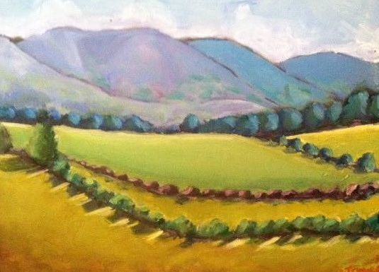 Oil painting Blue Ridge Spring- SOLD by Sarah Trundle