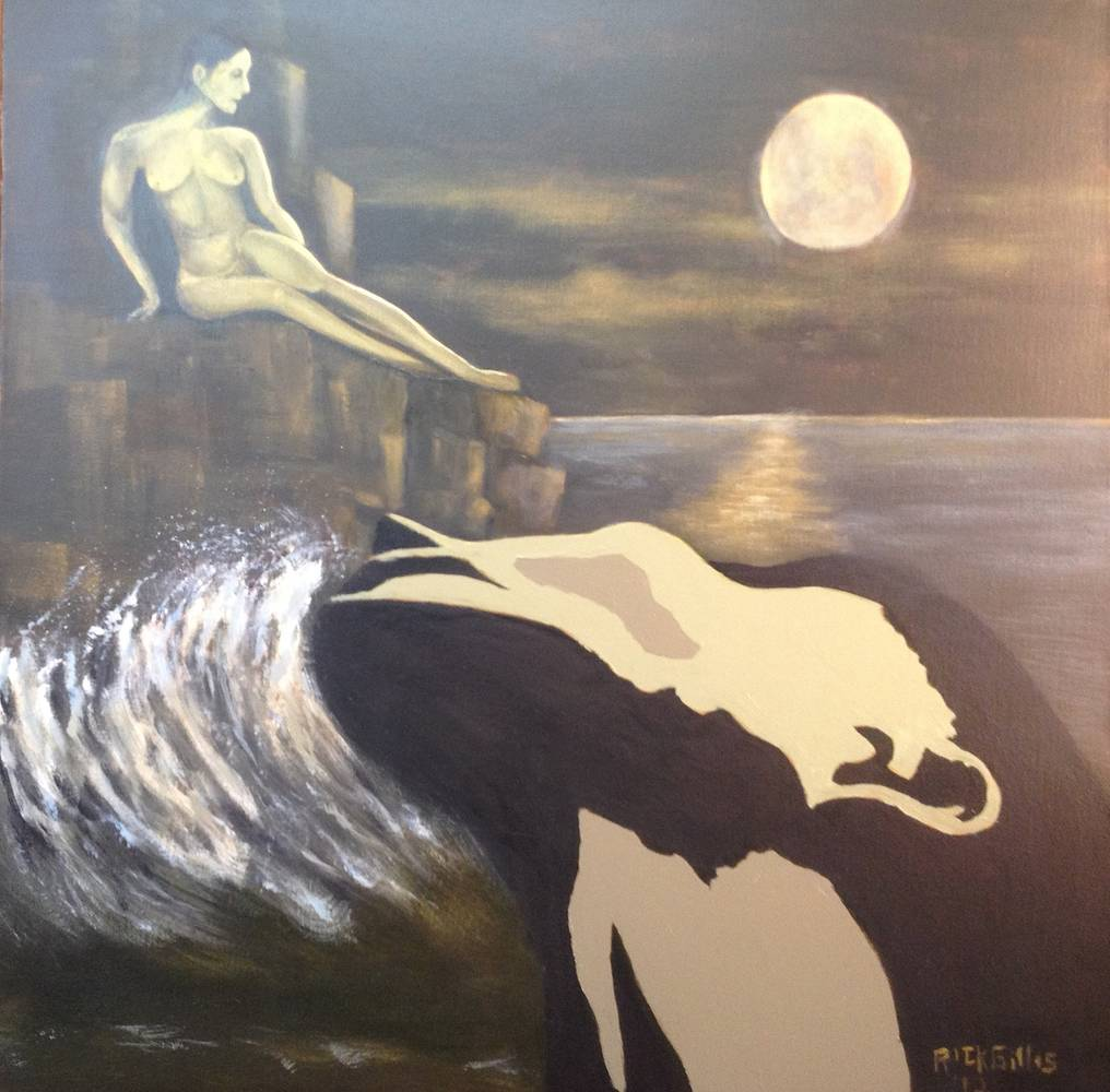Acrylic painting The Seduction Of Anchises by Rick Gillis