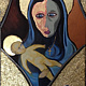 Acrylic painting The Premonition Of The Madonna by Rick Gillis