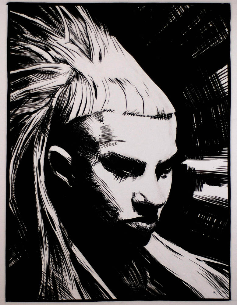 Drawing Yolandi  by Hendrik Gericke