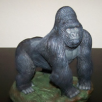 Painting Mountain Gorilla Silverback sculpture (hand painted) by Jason  Shanaman