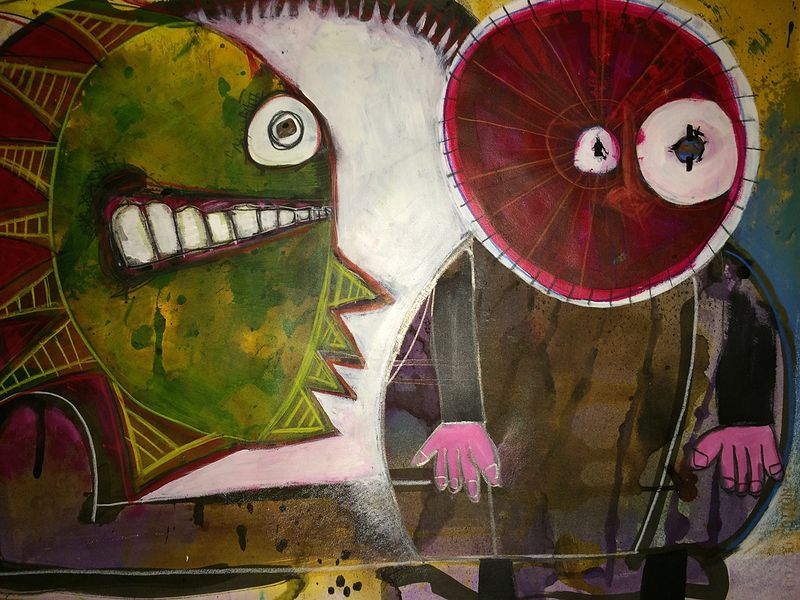 Mixed-media artwork We Can Be Friends by Joey Feldman
