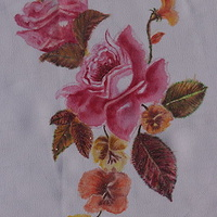 "Print Art Poster ""Roses"" on Chiffon artwork by Gia by Chía Ortegón"