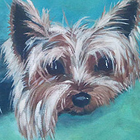 Acrylic painting Silvie by Sally Adams