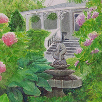 Watercolor Riverside Inn by Yvonne Shaffer