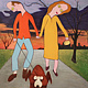 Acrylic painting A Lovely Evening For A Stroll by Rick Gillis