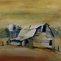Watercolor Barn US28 Franklin NC by Steve Latimer