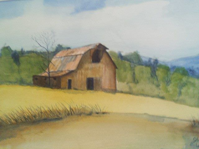 Watercolor Barn Franklin by Steve Latimer