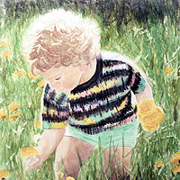 Watercolor Dandelions by Yvonne Shaffer