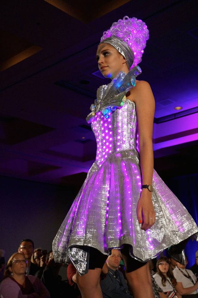 Chameleon Dress at Augmented World Expo by Angela Dale