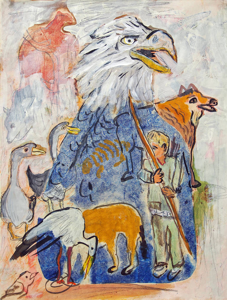 Print Under the Eagle by Dennis Worrel