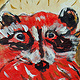 Print Crimson Coon by Dennis Worrel