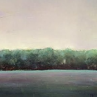 Oil painting Evening Field-SOLD by Sarah Trundle
