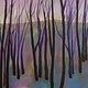 Acrylic painting Purple and Grey Rd 19 by Gordon Sellen