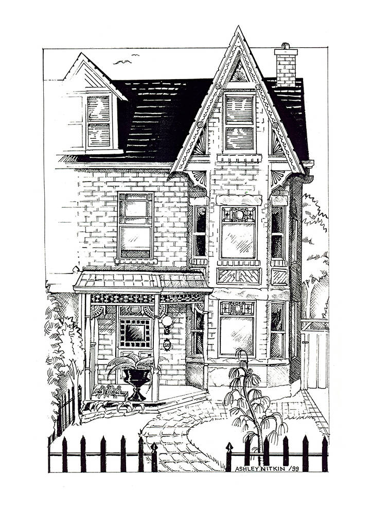 Drawing Parkdale House by Ashley F Nitkin