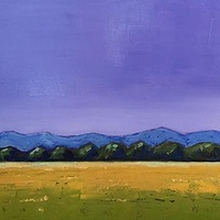 Oil painting Summer Field-SOLD by Sarah Trundle