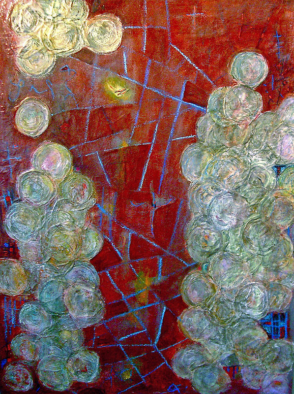 Mixed-media artwork Web Of Kinship-Private Collection by Deborah J Gorman