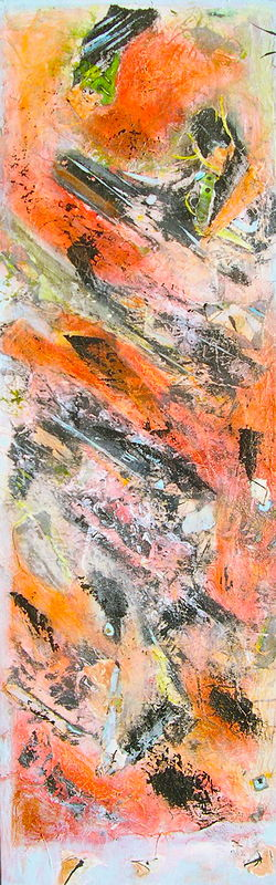 Mixed-media artwork Seismic Shift by Deborah Angyo Gorman