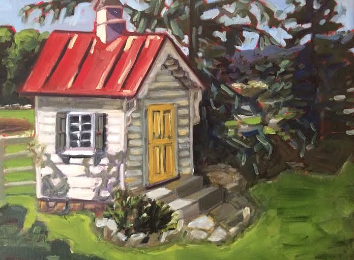 Oil painting Playhouse- SOLD by Sarah Trundle