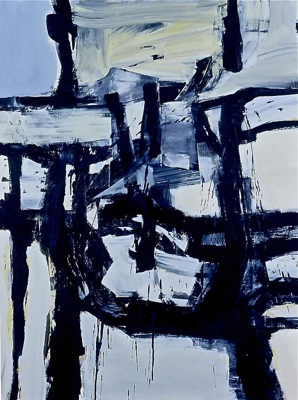 Acrylic painting Black and Blue by David Tycho