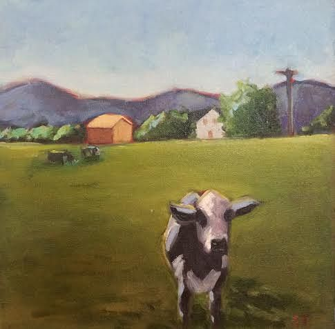 Oil painting Whitehall Cow- Study- SOLD by Sarah Trundle