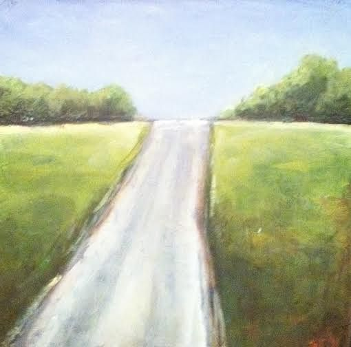 Oil painting Road to Nowhere by Sarah Trundle