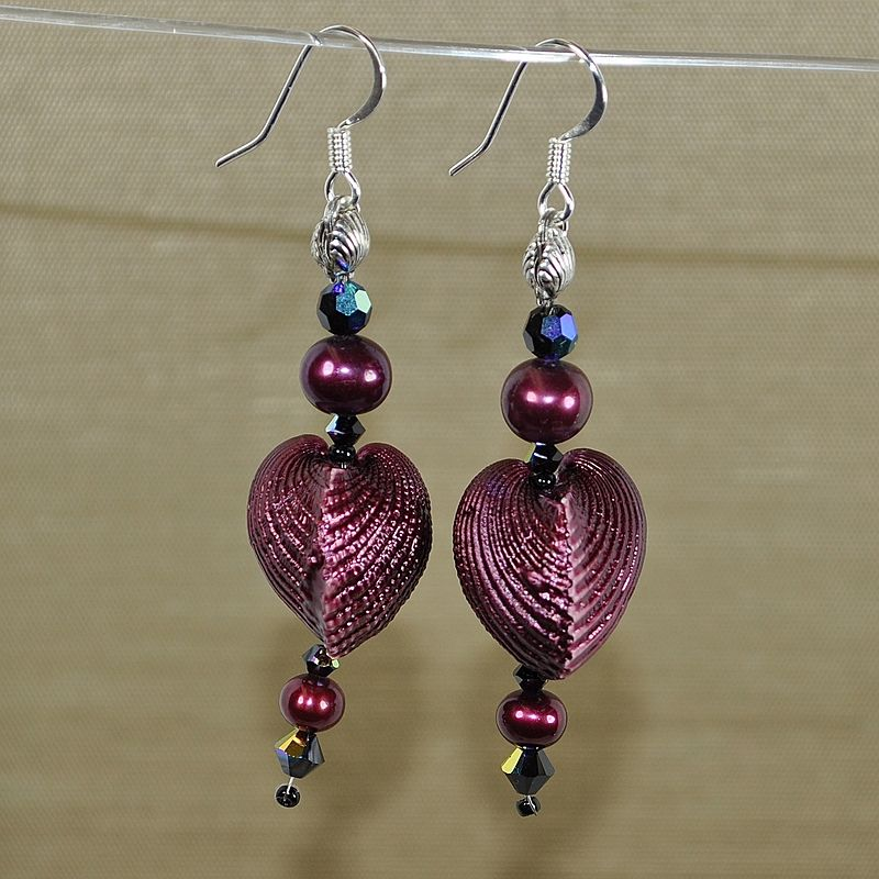 "Black Cherry Passion, showing the side view ""hearts"" by Sue Ellen Brown"