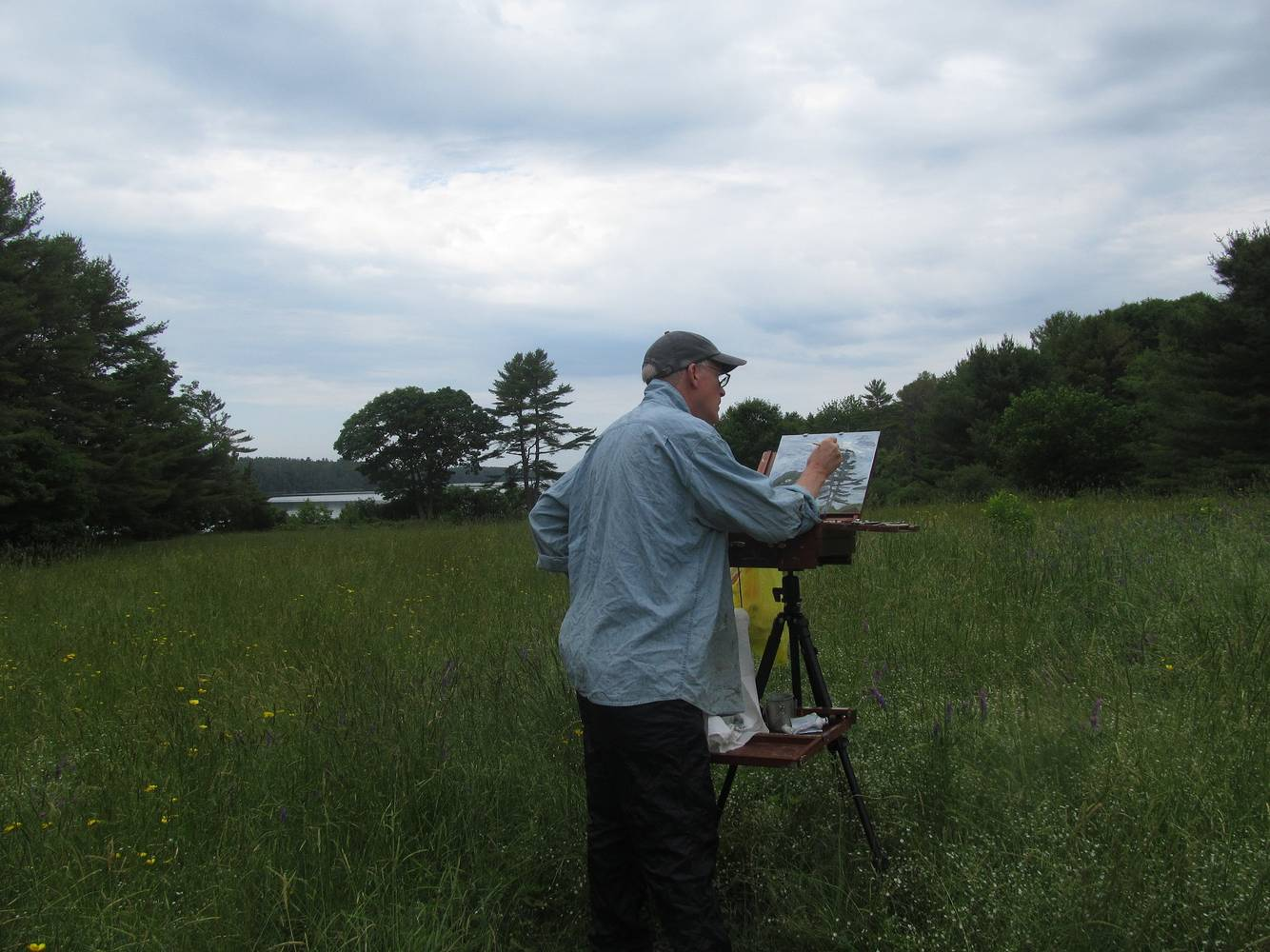 Painting plein air at Tidebrook Conservancy.  by Michael  Gaudreau