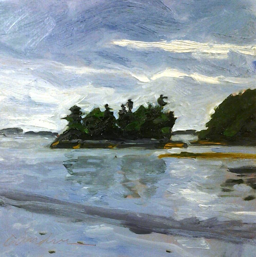 Wolf's Neck Is, Maine 10x10in by Michael  Gaudreau