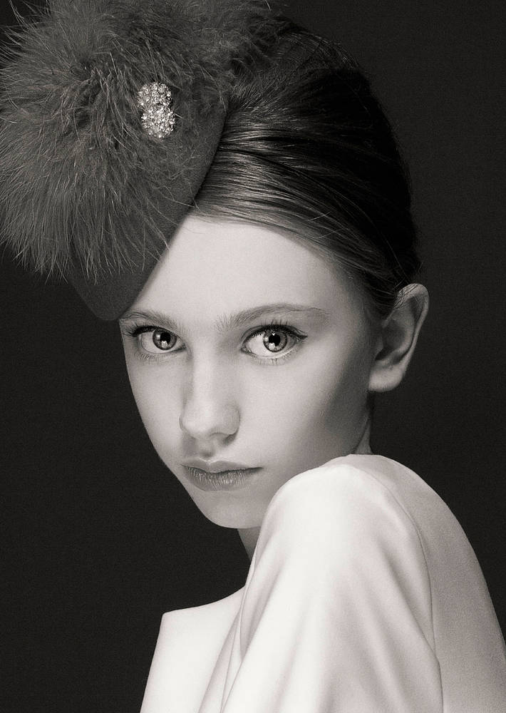 Photography Pewter marabou cocktail hat by Fiona Menzies
