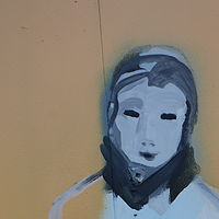 Image of child in the mural by Sharon  Hunter