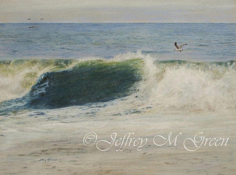 "© Jeffrey M Green. ""Froth"", 11"" x 14"", pastels. by Jeffrey Green"