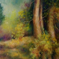 Oil painting Forgotten Path by Libuse Labik