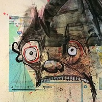 Mixed-media artwork 405 Collage by Joey Feldman