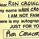 Autograph (Interactive handout) by Ron Crowcroft