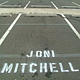 Joni Mitchell, stencil by Ron Crowcroft